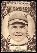 1921 Babe Ruth Cover Mid-Week Pictorial Magazine New York Yankees KILLER Image!