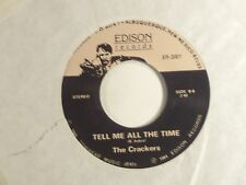 """the crackers 7"""" 45 what did i do?/tell me all the time  edison recs er-2001 m-"""