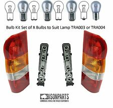 *TRANSIT MK6 00-06 REAR TAIL LIGHT LAMP & HOLDERS & BULBS PAIR LH & RH TRA503