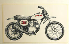 **FREE SHIP** VINTAGE HONDA XR75 MOTORCYCLE VINYL STICKER DECAL MOTO MX DIRTBIKE