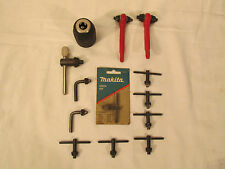 13PC VINTAGE MIXED LOT OF DRILL CHUCK KEYS REPLACEMENT HAND TITE CHUCK MAKITA