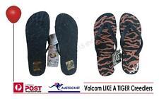 Volcom Creedlers  Flip Flops Tiger Print Womens Size US 8 EUR 38-39 25.5cm lengt