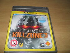 Killzone 3 PS3 PlayStation 3 Game Complete (Platinum) FAST POST