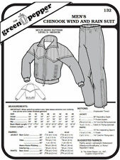 Men's Chinook Wind and Rain Suit Coat Jacket Pants #132 Sewing Pattern gp132