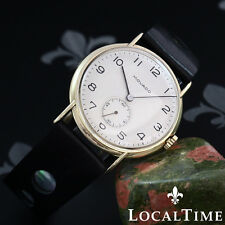 1940's MOVADO Vintage Gents 14k YG Dress Watch 15j 11.5 Ligne Movado Cal. 75