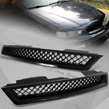 For 1994-1997 Honda Accord ABS Black Type-R Front Hood Bumper Mesh Grille Grill