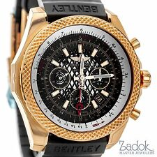 Breitling for Bentley B04 GMT 18k Rose Gold Chronograph Watch RB043112 Black