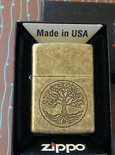 Zippo 29149 Tree of Life NEW 2016 Release Antique Brass Lighter Free Shipping