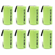 8 pcs 2/3 AA 2/3AA 800mAh NiMH 1.2V Rechargeable Battery with tab Green US Stock