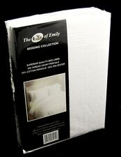 "16"" Extra Deep King Size White Fitted Sheet - 200 TC Poly Cotton"