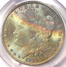 1885-O Toned Morgan Silver Dollar $1 - Certified PCGS MS65 - Nice Rainbow Toning