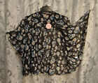 OVERSIZED OPEN DRAPE FRONT SEMI-SHEER CHIFFON SMOCK CARDIGAN JACKET TOP~1X~2X~NW