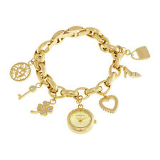 Anne Klein Gold-tone Dial Gold Tone Charm Bracelet Ladies Watch 10-7604CHRM