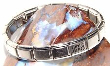 Narcotics Anonymous NA AA Turn It Over Italian Bracelet Stainless Steel Polished