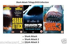 SHARK ATTACK TRILOGY DVD PART 1 2 3 Brand New and Sealed UK Release Movie Film