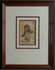 DOMINGO MUNOZ Y CUESTA 1850-1912 ORIGINAL SIGNED PORTRAIT 'MILITARY OFFICER'