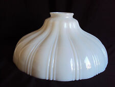 VINTAGE WHITE GLASS HANGING SWAG LAMP PARTS SHADE