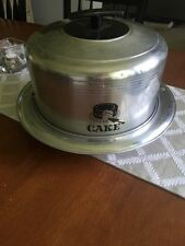 Vintage Cake Cover & Tray Aluminum West Bend