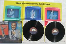 Johnny Carson Here's Johnny: Magic Moments from the Tonight Show 2 LPs + poster