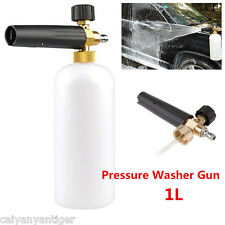 "1L Snow Foam Lance Cannon With 1/4""Quick Connect Adapter For Pressure Washer Gun"