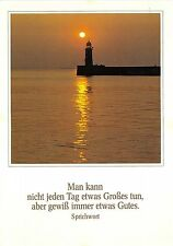 B34460 Man Kann nicht jeden Tag etwas Grosses lighthouse fare  germany