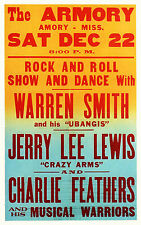 "Jerry Lee Lewis Armory 16"" x 12"" Photo Repro Concert Poster"
