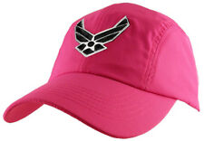 U.S. Air Force Insignia Hat / USAF Pink Polyester Baseball Cap 6355