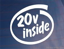 20v INSIDE Car/Van/Bumper/Window Vinyl Sticker Ideal for 20 Valve Engine Vehicle