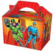 10 Super Hero Party Boxes - Food Loot Lunch Cardboard Gift Kids