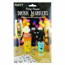 Drink Markers Over 100 Reusable Funny Markers Works On Glass Plastic and Metal