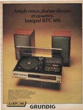 Publicité  GRUNDIG le RPC 300