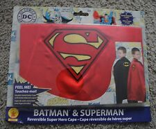 BATMAN AND SUPERMAN REVERSIBLE SUPER HERO CAPE DC COMICS BRAND NEW RARE COSTUME