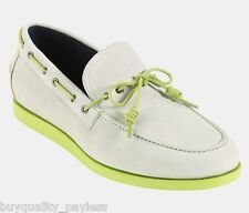 COLE HAAN AIR MASON Ivory Green Casual Loafer Boat Shoes Mens 9.5 EXPEDITED MAIL