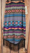 WRANGLER  AZTEC Sweater knit FRINGE skirt NWT cowgirl western Ladies small