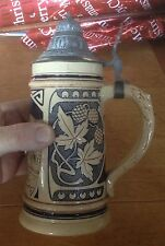 Superb Hamburg City Beer Stein with pewter lid. Mint condition - lovely piece