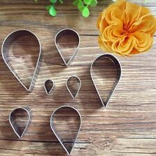 7Pcs Stainless Steel Rose Petal Cake Ring Mold Layer Slicer Cookie Cutter Baking