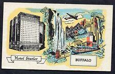 C1950's Illustrated Card - Hotel Statler, Buffalo, USA