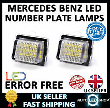 MERCEDES BENZ C CLASS W204 WHITE LED NUMBER PLATE LIGHTS LAMP SMD BULBS XENON