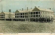 Indiana, IN, Indianapolis, Soldiers In Line 1911 Postcard