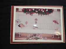 1960's FUNERAL POST MORTEM Vintage PHOTO Woman in Casket