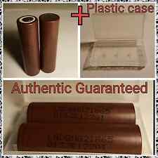2 x GENUINE LG HG2 INR18650HG2 3000mAh 30A INR High Drain Battery w/ Case