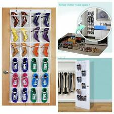 24 Pockets Shoes Space Door Hanging Organizer Storage Rack Bag Box Closet Holder
