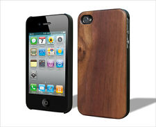 iPhone 4S/4 Handcrafted Real Walnut Wood Case Superior Grip