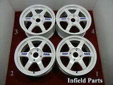 "JDM 16"" RAYS ENGINEERING FORGES TE37 16x7 16x7.5 +42 +46 4x114.3 RIMS #165-59"