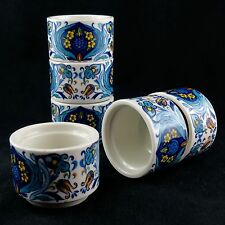 "COQUETIERS (x6) ""Sept fontaines"" VILLEROY & BOCH Vintage Eggcup Design/acapulco"