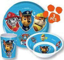 Nickelodeon Paw Patrol Kinder Frühstück Set 3tlg Becher Teller Schüssel Geschirr