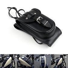Leder 4.5 Gallons Tankdeckel-Abdeckung Panel Tasche Für Harley Sportster XL883.