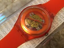"NEW SWATCH ""ORANGISH LACQUERED"" WATCH SUOO100 MENS/LADIES/BOYS/GIRLS orange"