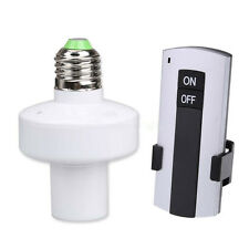 E27 Lamp Base Wireless Remote Control Screw Light Holder Cap Socket Switch