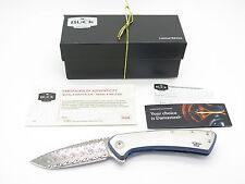 BUCK 040 0040TTSLE ONSET DAMASCUS TITANIUM FRAMELOCK FOLDER KNIFE LIMITED CUSTOM